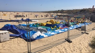 Young girl dies after being thrown from bouncy castle on Norfolk beach