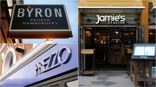 Hundreds of jobs have gone at high street restaurant chains such as Byron, Prezzo and Jamie's Italian