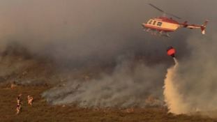 Hundreds of firefighters continue to tackle 'unprecedented' moorland fires