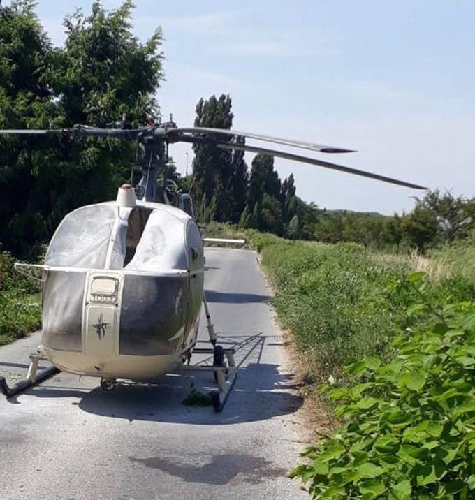 The helicopter abandoned by Redoine Faid after his escape from Reau prison