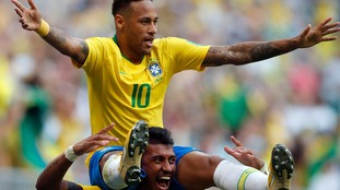 Goals from Neymar and Firmino help Brazil see off Mexico
