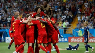 Belgium dramatically recovered from going two goals to Japan to secure a last-gasp 3-2 victory