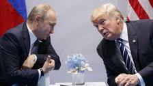 President Donald Trump and Russian President Vladimir Putin previously met at the G20 summit in Hamburg last year.