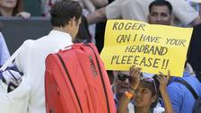 The young tennis fan caught Roger Federer's attention with their request.