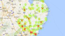 Japanese knotweed hotspots around the region