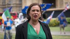 Sinn Fein leader Mary Lou McDonald does not want the issue of the Irish border to roll into October.