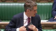 Defence Secretary Gavin Williamson switches off his phone