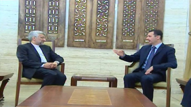 President Assad meeting Saeed Jalili