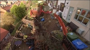 Homes damaged in landslip in Whitby