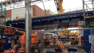New rail bridge is fitted in Southend