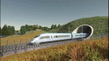 Proposed HS2 rail line