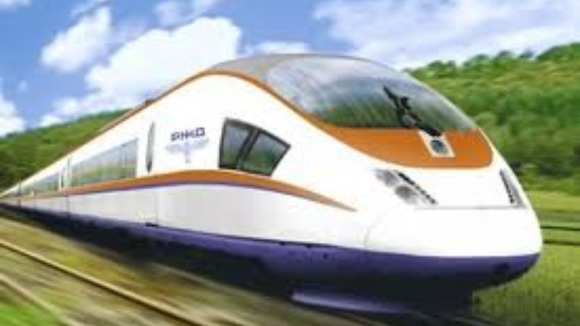 Artist&#x27;s impression of high speed train