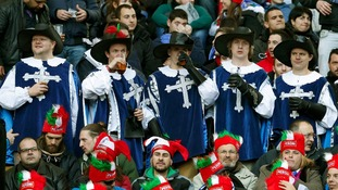 Supporters of the French rugby team