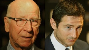 Sir Bobby Charlton and Frank Lampard