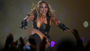 Beyonce performs in front of thousands of fans in New Orleans, and billions more on television.