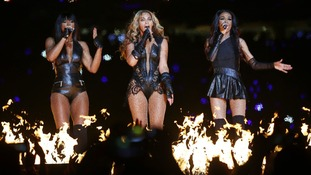 Beyonce and Destiny's Child perform in New Orleans on Sunday night.