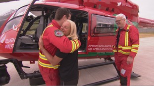 Mandy and the air ambulance crew