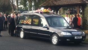 Funeral cortege of murdered schoolgirl Casey Kearney