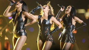 Beyonce (C) and Destiny's Child perform during the half-time show of the NFL Super Bowl XLVII football game in New Orleans, Louisiana.