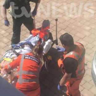 Dawn Sturgess was stretchered into an ambulance on Saturday.