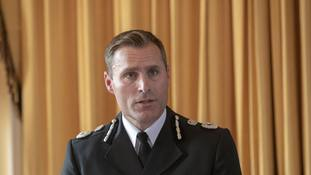 Wiltshire Police Chief Constable Kier Pritchard speaks at a press conference in Amesbury.