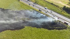 A picture of the grass fire