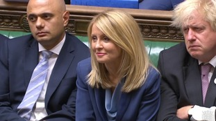 Work and Pensions Secretary Esther McVey during Prime Minister's Questions in the House of Commons yesterday