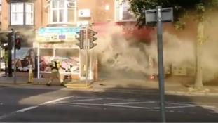 Firefighters battle fire in Leicester shop and flat