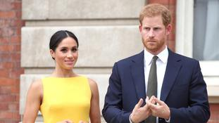 The Duke and Duchess of Sussex during the Your Commonwealth Youth Challenge reception