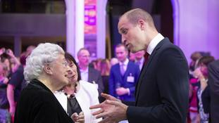 William meets woman who worked as nurse on NHS's first day