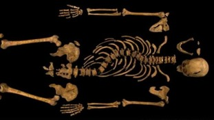 The University of Leicester releases an image of the first full picture of the skeleton believed to be Richard III.