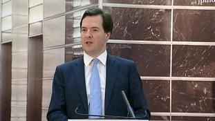 George Osborne is giving a talk at JP Morgan in BournemouthGeorge Osborne is giving a talk at JP Morgan in Bournemouth