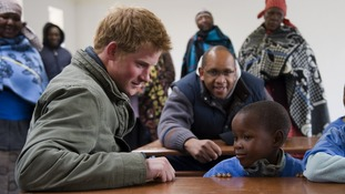 Prince Harry during a visit to a herd boys School in Semongkong, Lesotho, in 2010.