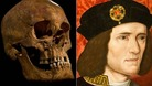 The skeleton found in a Leicester car park that scientists say belongs to King Richard III, right.