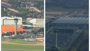 Drivers are paying big parking fees at both Luton (left) and Stansted (right).