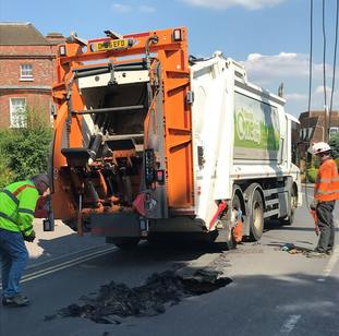 The road is to be closed while repairs are carried out