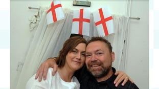 World Cup: Bride feels 'guilty' after wedding clashes with England game