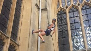Bath's Amy Williams joins mass abseil down Abbey