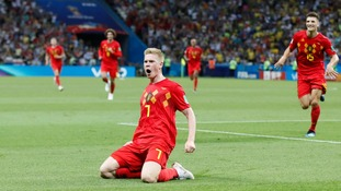 Belgium secured a Semi-Final clash against France after beating Brazil 2-1