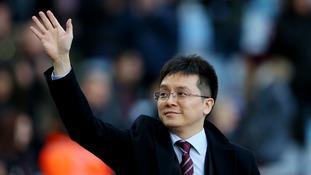 Aston Villa not for sale, owner Xia tells fans