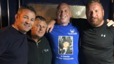 Steve McHugh is swimming the channel in memory of Paul LaVelle who was killed in a domestic abuse incident
