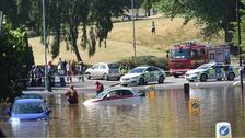 Roads around Wheeler Street are flooded
