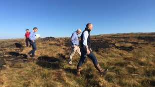 The MP's were given a tour of the moorland devastated by the fires