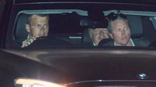 Foreign Secretary Boris Johnson (centre) leaves Chequers.