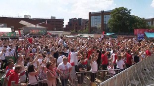 Fans celebrate at The Solstice in Peterborough.