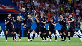 England will face Croatia in the World Cup semi-finals after Zlatko Dalic's side beat hosts Russia 4-3 on penalties