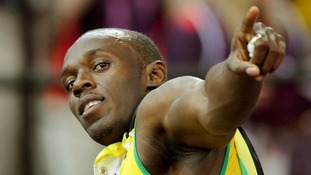 Usain Bolt pictured after winning the men's Olympic 100m final.