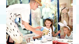 Oxford's covered market transformed into wonderland for Alice's Day