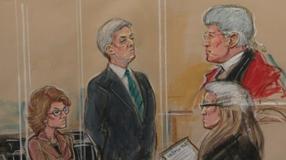 Vicky Pryce and Chris Huhne in court today