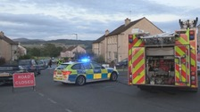 The scene of the collision in Hawick.